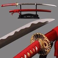 Holloween Decorative Sharp Samurai Katana Handmade High Carbon Steel Unokubitsukuri Blade Knife  Full Tang Japanese Sword