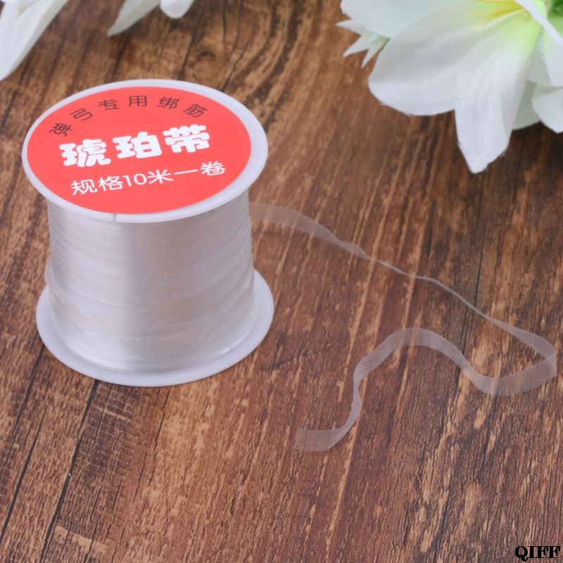 Drop Ship 1 Roll 10m Slingshot Rubber Band Strap Tied Binding Line Hunting Catapult String Thread Elastic Shooting May30