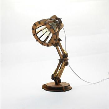 EG DIY library  wood table lamp Pixar creative lamp LED eye wooden decorative lamp bedroom bedside lamp for study