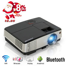 Family Home Theater Cinema LED Projector Bluetooth Android Portable Movie Video HDMI USB LCD Proyector Beamer Smartphone TV PC