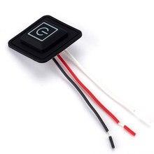 Luva aquecida elétrica de 3.7 ~ 12v, luva de silicone para controle de temperatura, interruptor de botão para reostat, diy