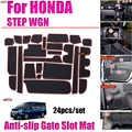 24 pz/set per Honda STEP WGN Car Interior Accessorie Anti-slittamento Porta Scanalatura Pad Coperture Griglie Fessura del Cancello Pad zerbino Acqua a prova di