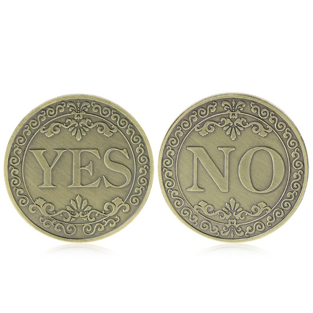 Coin Collection Bronze Embossed Decision Maker Finger Meaningful