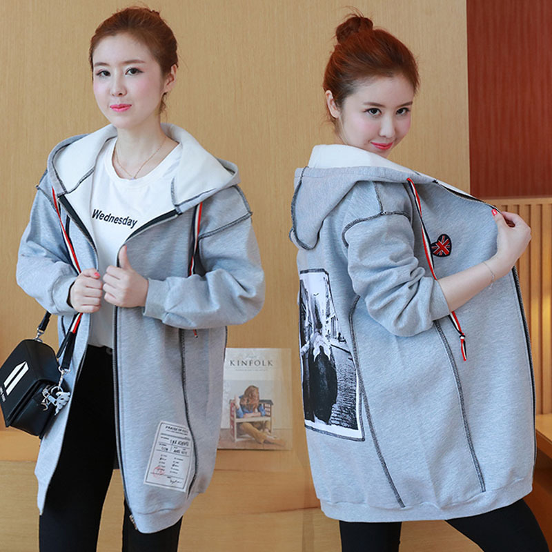 2017 new big code Autumn and winter sweater Loose coat for pregnant women Pullover Sweaters Grey Stand Collar Tight Sweater 2015 d23 expo pixar cars lightning mq s biggest fan le 1000 big al loose new 1 55