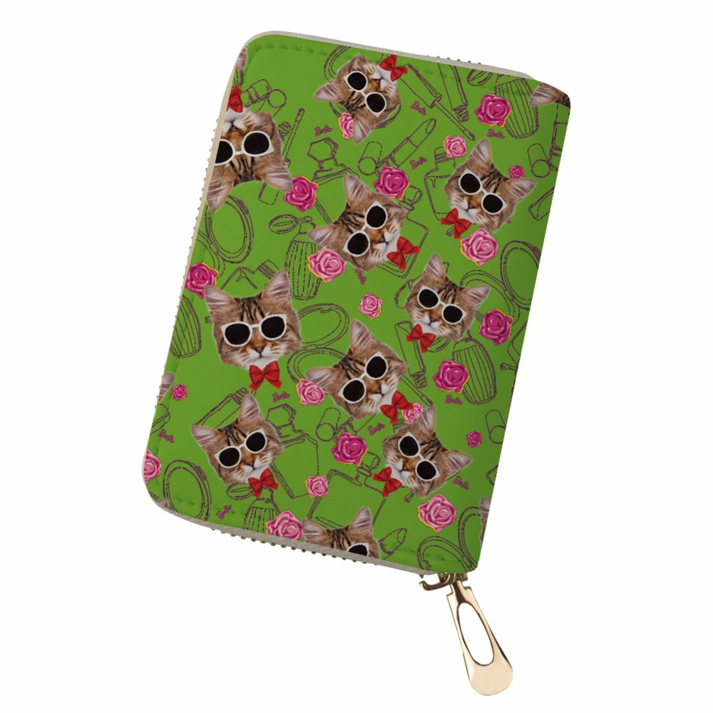 Noisydesigns black cat bag Passport Holder Slim wallet Pochette Card animals pink cats sweet dog card Womens Purses And Wallets