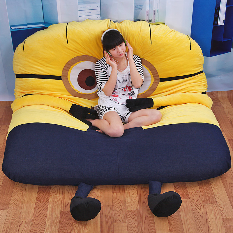 1 8x2 0m Funny Deable Me Minions Sleeping Bag Sofa Bed Twin Double Mattress For Oversized Beanbag Tatami In Bean Sofas From