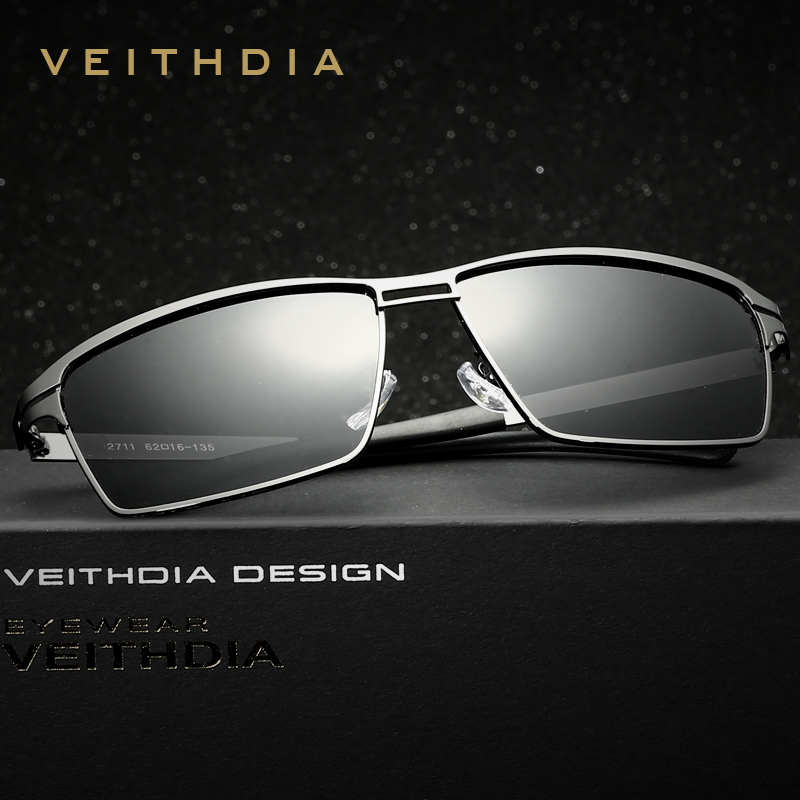 VEITHDIA Stainless Steel Men s Sunglasses Polarized Driving Oculos  masculino Male Eyewear Accessories Sunglasses For Men 2711 3b2315a487