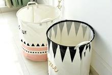 Natural Cotton flax folding bucket Waterproof fishing fold basin for Home Bathroom storage bucket kitchen mop car washing tool