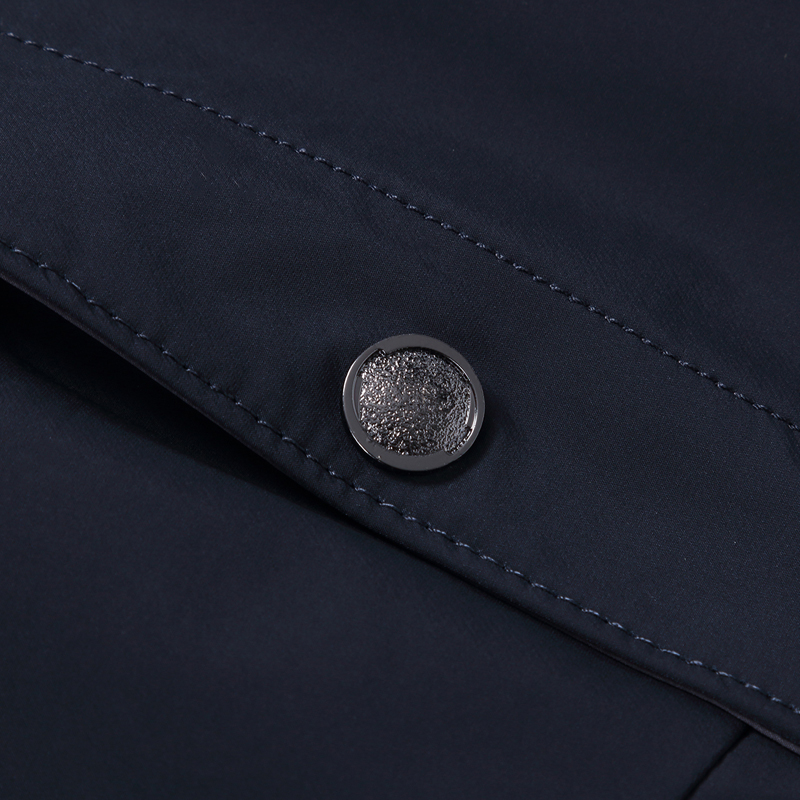 Весенне осенняя мужская куртка с воротником стойкой, ветровка, мужская темно синяя темно зеленая бейсбольная куртка, Повседневная тонкая, в... - 6