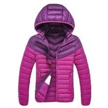 Women Parkas Ultralight Cotton Puffer Hooded Jacket Women's Autumn Winter Outfit with Detachable Hood