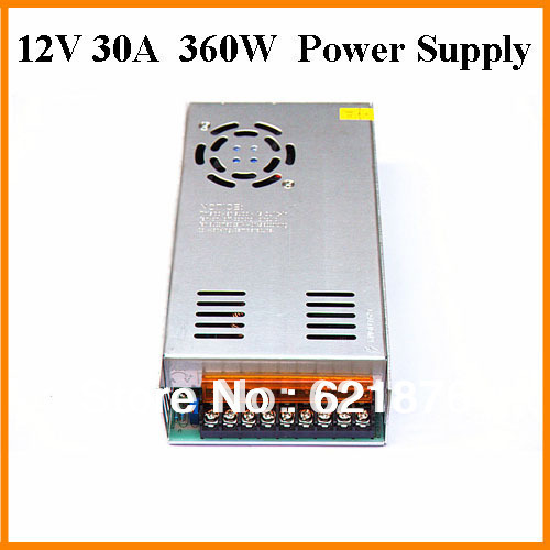 360W 30A input AC110V/200V~240V To DC12V output 30A  360W LED Switching Power Supply  for led Strip light 3 year warranty