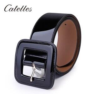 Image 5 - Ceinture en cuir véritable pour femmes, Catelles, large, de marque, de bonne qualité, pour robes