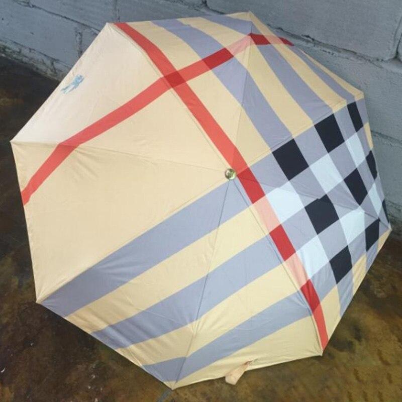 Wind Resistant Folding Automatic Umbrella B Brand Auto Luxury Big Windproof Umbrellas Rain For Gift Black Parasol YC 5275