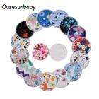 Oususunbaby 12pcs/lot Reusable Bamboo Breast Pads Organic Bamboo Breast Pad Nursing Pads Waterproof Washable Feeding Pad For Mum
