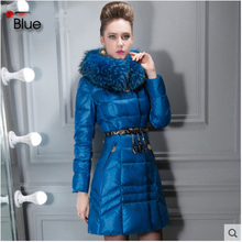 Europe North Winter Women Long Down Jackets and Coats Luxury Raccoon Fur Womens Parka ukraine abrigos y chaquetas mujer invierno