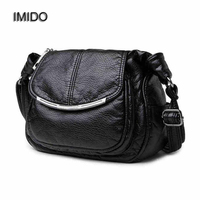 IMIDO 2017 Luxury Design Women Genuine Leather Bag Soft Sheepskin Messenger Bags Female Shoulder Bag Crossbody