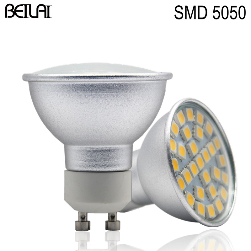 SMD 5050 GU10 LED Spotlight 24 27 29LED Lampada Lamp 220V Spot Candle Light Lamparas Bulbs Christmas Home Lighting