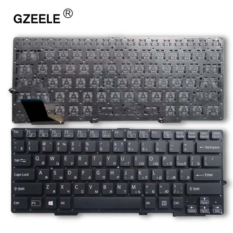 GZEELE NEW  Laptop Keyboard For SONY SVS13 SVS1311 SVS131 SVS13118 SVS13128 S13118ECB S13128CCW S13118ECW RU Without Frame Black