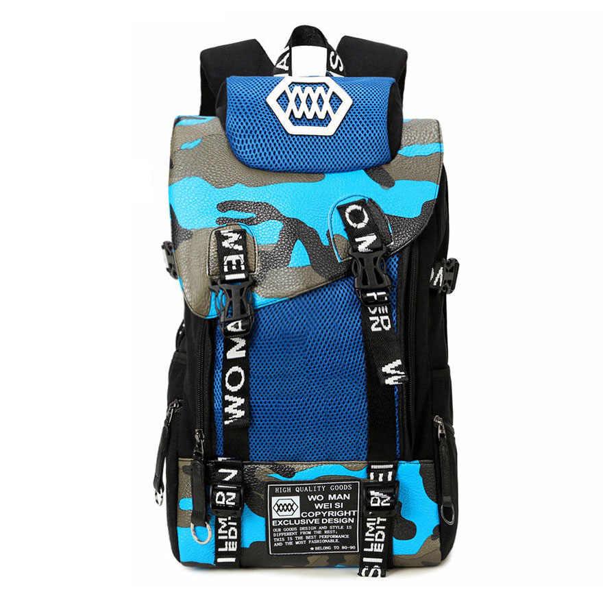 Модный принт модный рюкзак из парусины с пряжкой контрастного цвета большая сумка мужская сумка для путешествий брендовая школьная сумка рюкзак для ноутбука