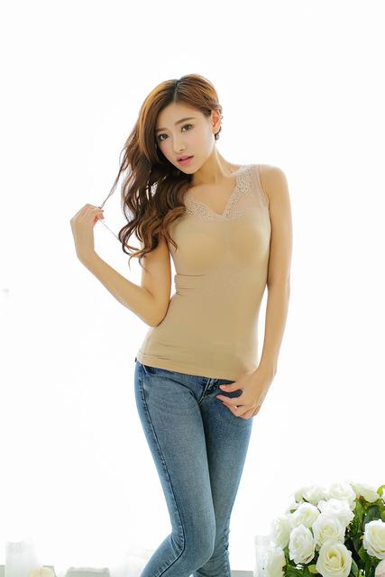 Nuevo otoño y el invierno de las mujeres sin costura cuerpo de encaje transparente neta capa caliente homewear