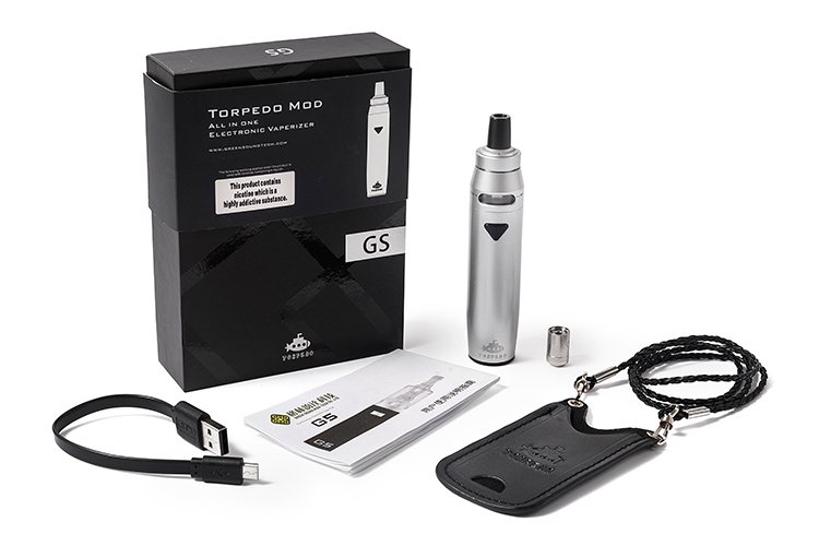 GS original G6 Torpedo Mod electronic cigarette All-in-one kit 2200mah Capacity AIO structure Small vape pen big vapor vaporizer