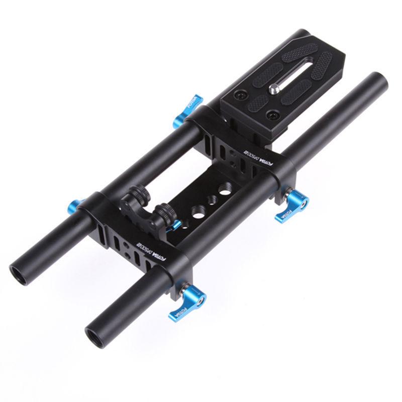 FOTGA DP500 II 15mm Rail Rod System for Lens Adapter Follow Focus Matte Box DSLR fotga dp3000 m2 rail system 15mm rod support rig for follow focus matte box