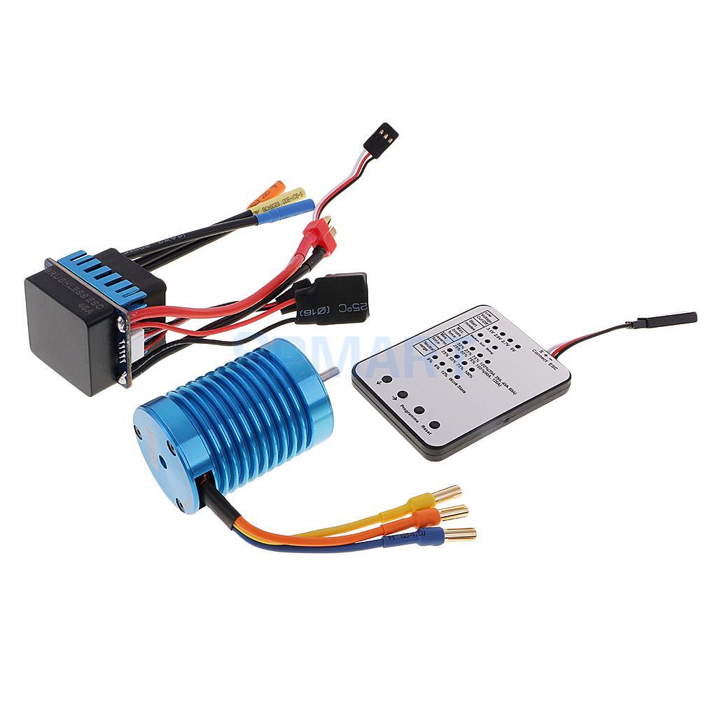 3300KV Brushless Motor+45A ESC+LED Programing Card for 1/10 1/12 RC Car Part f540 3930kv brushless motor 45a esc led program card for 1 10 1 12 rc car