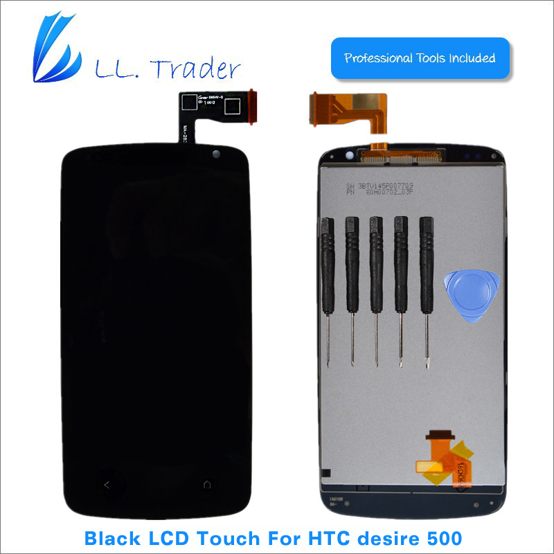 Подробнее о LL TRADER Highscreen Tested 1 Piece Black Screen For HTC Desire 500 LCD Touch Display+Digitizer Replacement +Tools Free Shipping ll trader highscreen 100% tested lcd screen for sony xperia z2 lcd display d6503 touch digitizer assembly full replacement parts