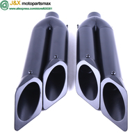 Motorcycle SLip ON Exhaust Muffler left and right for BN600 HUANGLONG600 and other motorcycle