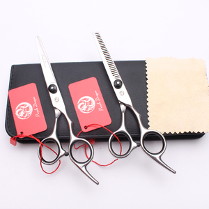 Z1001 6,0 ''17,5 см фиолетовый дракон Профессиональные ножницы для волос Парикмахерские ножницы для стрижки филировки 2 шт./компл. + чехол