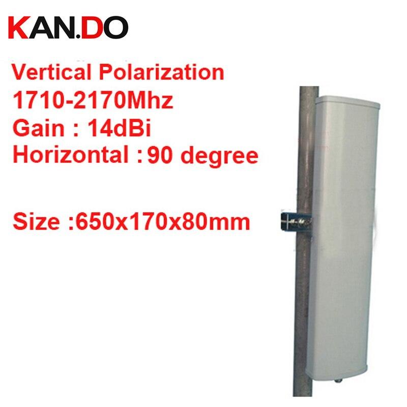 14dbi вертикальной поляризации 90 град 1710 2170 мГц Панель антенны DCS 3G антенны базовой станции использования LTE FDD антенны TDD 4 г LTE антенны