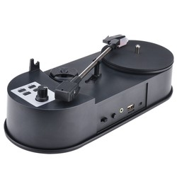 MP3 Converter Ezcap613P 33/45RPM Vinyl Record Player Turntables to Save Music to USB Flash Drive/ SD Card Built-in Speaker