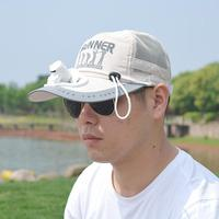 Unisex Electric Fan Sunhats Cooling USB Charge Fishing Sunshade Caps with Letters Ins Hot Novel Summer Hats SAN0