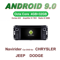 OTOJETA Car GPS Android 9.0 Radio FOR CHRYSLER SEBRING JEEP DODGE bluetooth Navigation DVD Capacitive screen support mirror link