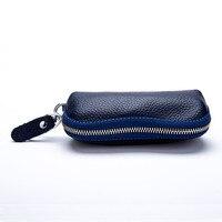 Новинка 2015 года для женщин мужчин из воловьей кожи на молнии кошелек сумка ключи Женские кошельки мода Многофункцио