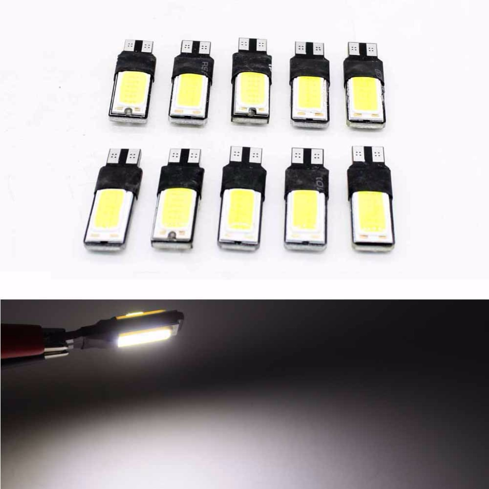 100pcs High power Canbus T10 194 W5W LED COB Interior Bulb Auto License plate Number Light Parking Backup Fog Light Brake Lamps