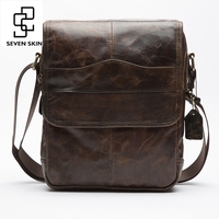 Top Genuien Cowhide Leather High Capacity Design Crossbody Shoulder Bag Men Messenger Bag Men Small Bag