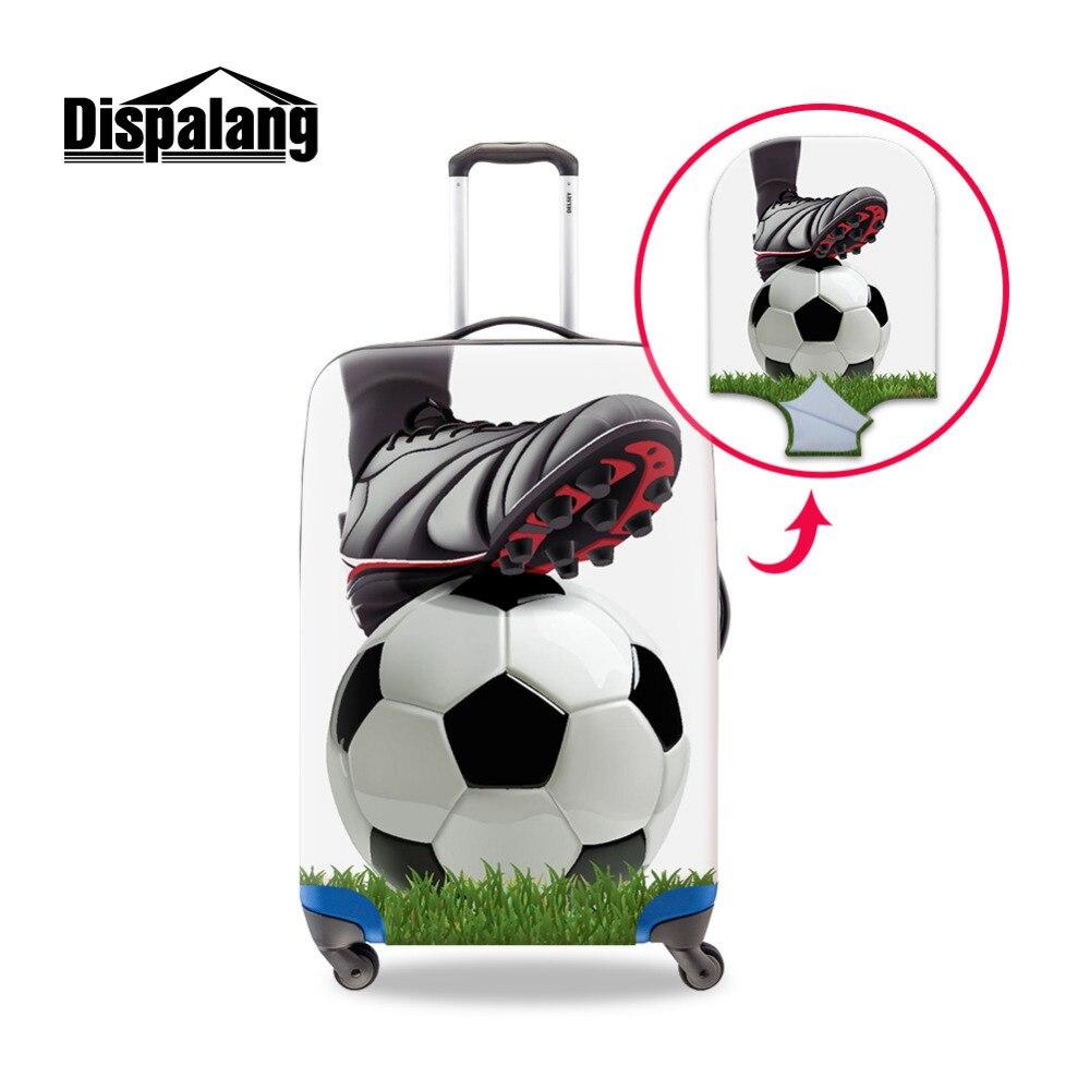 Dispalang Futebol Impressão Bagagem Tampas de Proteção