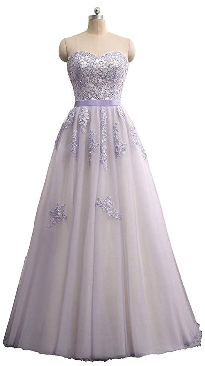 2019 Women's Appliques Long Tulle Bridal Dresses Zipper A-line Beaded Evening Gowns Vestidos De Fiesta De Noche