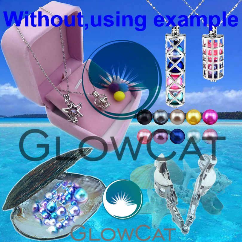 Glowcat K645 Hondenhok Puppy Klauw Print Kralen Essentiële Olie Diffuser Parel Kooi Medaillon Kettingen Kids Best Gift Sieraden