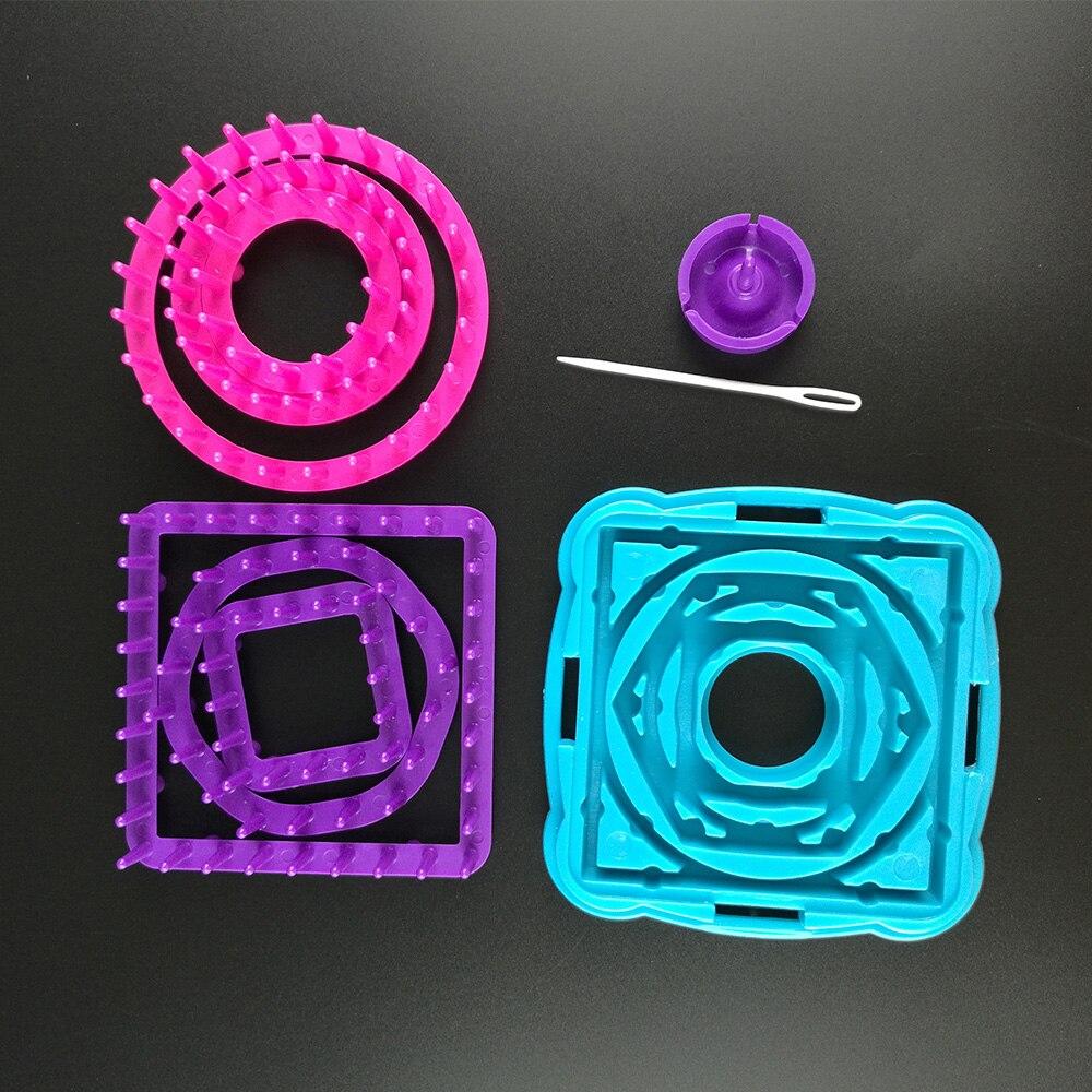 9Pcs Flower Knitting Loom Flower Loom Kits Craft Wool Yarn Maker for Flower Daisy Pattern