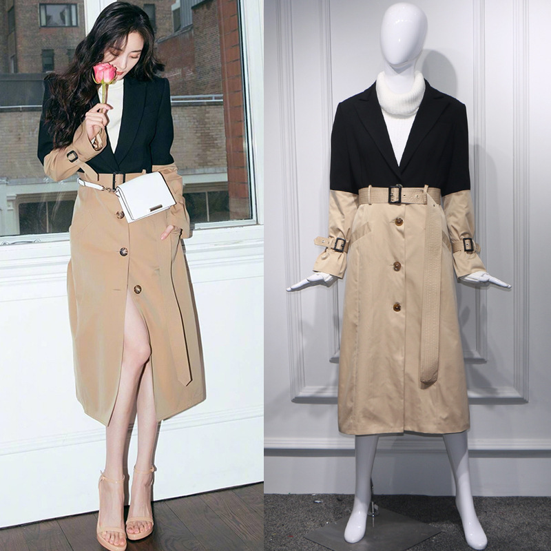 DEAT 2019 new summer fashion women clothes turn down collar full sleeves contrast colors single breasted