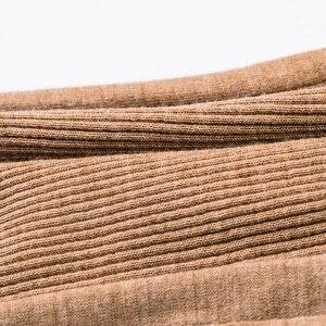 Image 3 - Jersey de lana 100% para mujer, jersey de lana Merino con cuello de tortuga y ribete, suéteres de punto de otoño e invierno 2019
