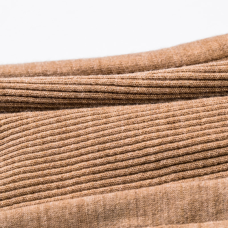 Image 3 - Women Wool Pullover 100%Merino Wool Sweater For Women Turtleneck  Rib Knits 2019 Fall Winter Sweaters Bottoming KnitwearPullovers   -