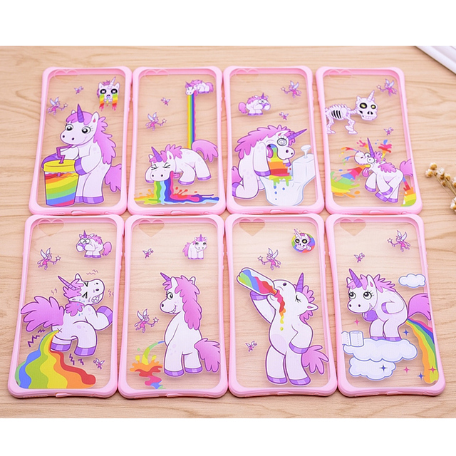 more photos 8813b f4b59 US $2.99 |2016 New Phone Cases For iPhone 6 6S 6 Plus 6s Plus Cases Cute  Cartoon Unicorn Horse 2 IN 1 Material Case For iPhone Phone Bag on ...