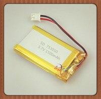 XHR-2P 2.54 1500 mah 753050 3.7ボルトリチウムポリマー電池803048コードレス電話ストーリーティーチングマシ