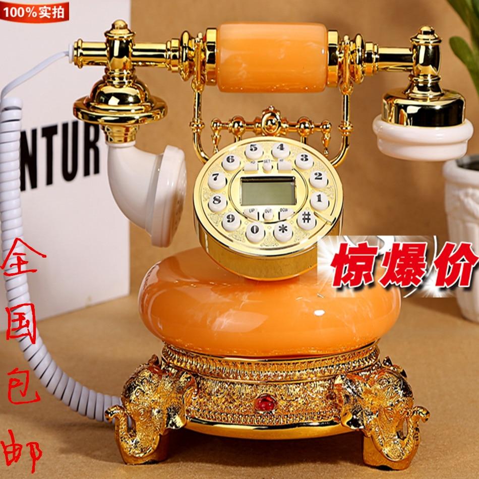 Echte imitatie hout antieke telefoon caller Europese antieke vaste kabel technologie speciale aanbieding Decoratie thuis telefoon