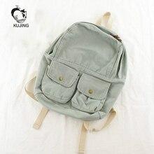 Kujing мода рюкзак высокое качество Книги по искусству женские Молодежные повседневные Рюкзак Горячие холст студент рюкзак путешествия женщины рюкзак