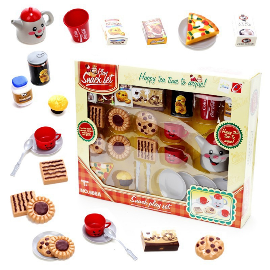 Kids Toys Simulation Biscuits Pizza Afternoon Tea Mix Set Wooden Toys Kids Pretend Play Food Toys Chriatmas Gift For Girls