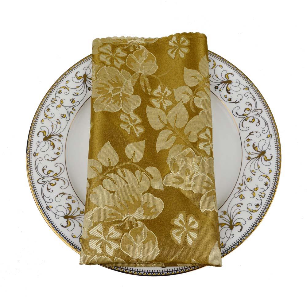 10 Stks/partij Chinese Traditionele 48 Cm Vierkante Hotel Vouwen Doek Bruiloft Polyester Zakdoek Diner Servet Wasbare